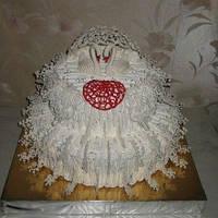 Нежный свадебный белый торт