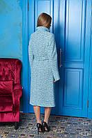 Мятное длинное женское демисезонное пальто ил-10025