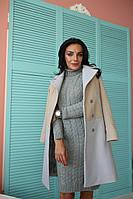 Двухцветное пальто из кашемира