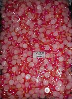 Полубусы Омбре (градиент), 8 мм, около 2000 шт/уп, оранж и малина, оптом