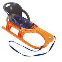 Детские санки Snow Tiger comfort KHW 29405 оранжевые