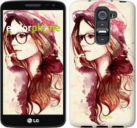 """Чехол на LG G2 mini D618 Девушка в шляпке """"3706u-304-4074"""""""