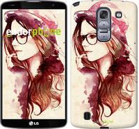 """Чехол на LG G Pro 2 D838 Девушка в шляпке """"3706u-375-4074"""""""