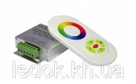 Радио RGB Контроллер 18А (белый сенсорный пульт)