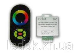 Радио RGB Контроллер 18А (черный сенсорный пульт)