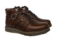 Зимние мужские  кожаные удобные  ботинки Kristan Brown, фото 1