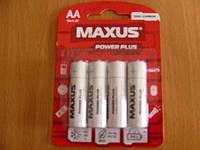 Батарейка  MAXUS сольова 1,5В АА,R6-AA-C4 на блістері