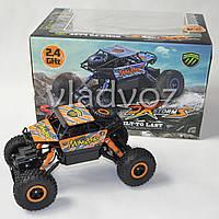 Джип на радио управлении машинка внедорожник модель Rock Crawler оранжевый 1:18