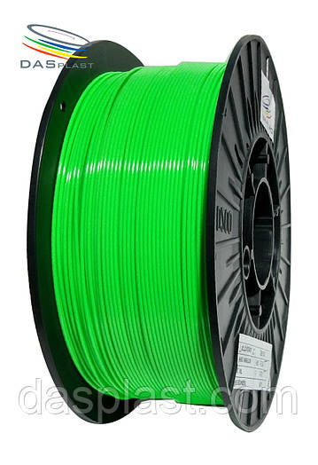 PLA пластик 1 кг, 1.75 мм, зеленый