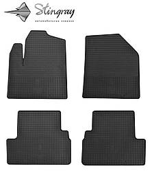 Ford Transit Connect 2009- Комплект из 4-х ковриков Черный в салон. Доставка по всей Украине. Оплата при получении