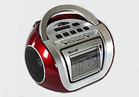 Бумбокс радиоприемник Golon RX-656QI, микрофон с функцией караоке, карты SD, вход USB, часы, будильник, запись