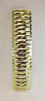 Зажим для волос хлопалка золотистый - 4,5 см, 40 шт./уп.