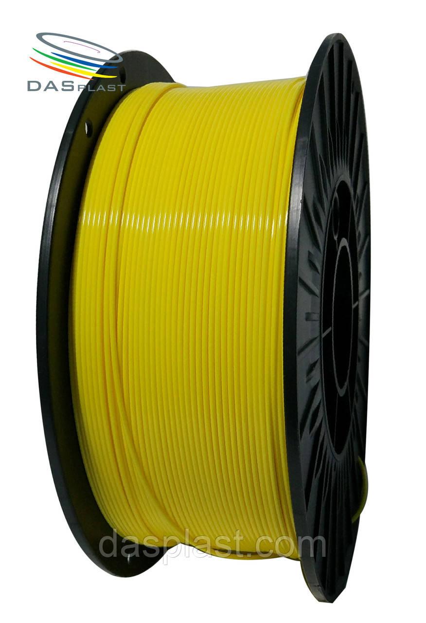 PLA пластик 1 кг, желтый  1.75 мм,