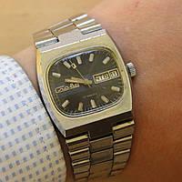 25477f09707f Слава Танк автоподзавод мужские часы СССР на браслете   продажа ...