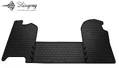 Iveco Daily IV 2006- Комплект из 3-х ковриков Черный в салон. Доставка по всей Украине. Оплата при получении