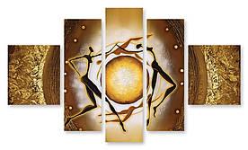 Модульная картина танец солнца
