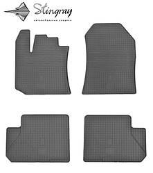 Renault Lodgy 2012- Комплект из 4-х ковриков Черный в салон. Доставка по всей Украине. Оплата при получении