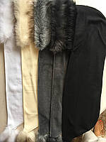 Шалик зимовий флісовий з штучним хутром
