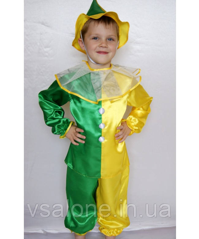 Дитячий карнавальний костюм для хлопчика Петрушка№2