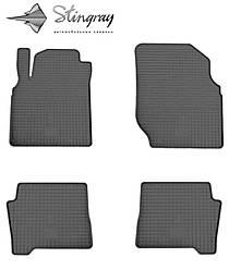 Nissan Almera N16 2000- Комплект из 4-х ковриков Черный в салон. Доставка по всей Украине. Оплата при получении