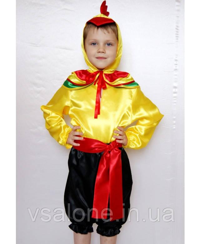 Детский карнавальный костюм для мальчика Петушок№2