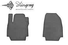 Renault Captur 2013- Комплект из 2-х ковриков Черный в салон. Доставка по всей Украине. Оплата при получении