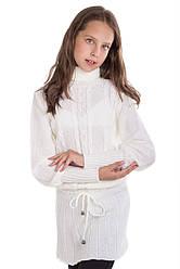Детское теплое платье на девочку подростка в расцветках, р.128-152