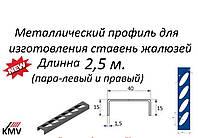 Направляющий швеллер (длинна 2,5 м с отверстиями для овальных ламелей 44*18)