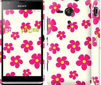 """Чехол на Sony Xperia SP M35H Розовые цветки """"4018c-280-4074"""""""