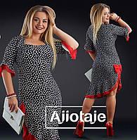 Нарядное платье женское в горох - 17320