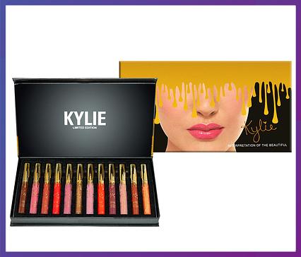 Набір матових помад Kylie Interpretation Of The Beautiful (12 шт.), фото 2