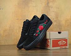 Мужские кеды Vans Old School Roses Black . ТОП Реплика ААА класса., фото 2