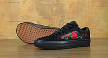 Мужские кеды Vans Old School Roses Black . ТОП Реплика ААА класса., фото 3