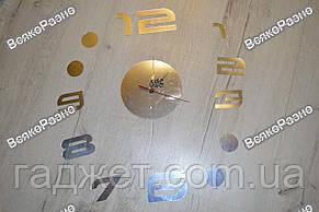 Акриловые настенные часы серебряного цвета. Настенные часы акриловые, фото 2