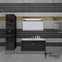 Комплект мебели Marsan Charlotta белый(черный) 100см