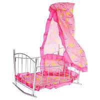 Кроватка с балдахином для кукол 9349 MELOGO