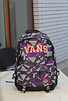 Рюкзак Vans off the wall - Фиолетовый ромб