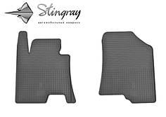Kia Ceed 2012- Комплект из 2-х ковриков Черный в салон. Доставка по всей Украине. Оплата при получении