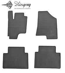 Kia Sportage III 2010- Водительский коврик Черный в салон. Доставка по всей Украине. Оплата при получении