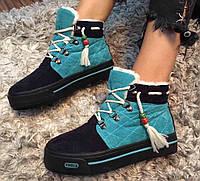 Зимние теплые ботиночки HAOLA dark-blue, р.33-38