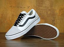Мужские кеды Vans Old Skool Pro White/Black . ТОП Реплика ААА класса., фото 2