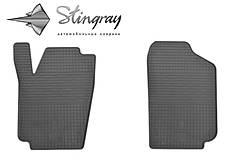 Seat Ibiza 2008- Комплект из 2-х ковриков Черный в салон. Доставка по всей Украине. Оплата при получении
