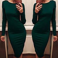 Платье Классика темно-зеленое