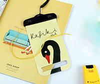 Водонепроницаемый чехол для телефона Black Swan