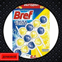 Гигиенический блок для унитаза Bref Power-Aktiv Лимонная свежесть 3 шт (50719254)