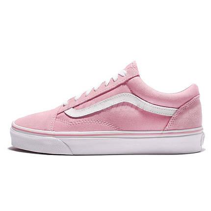 Женские кеды Vans Old Skool pink white, фото 2