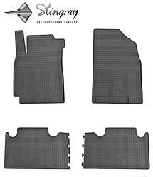 Geely Emgrand X7 2013- Комплект из 4-х ковриков Черный в салон. Доставка по всей Украине. Оплата при получении