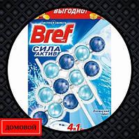 Гигиенический блок для унитаза Bref Power Aktiv Океанская свежесть 3 шт (50719255)