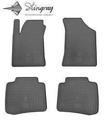 Kia Cerato 2004- Комплект из 4-х ковриков Черный в салон. Доставка по всей Украине. Оплата при получении