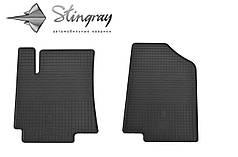Kia Rio III 2011- Комплект из 2-х ковриков Черный в салон. Доставка по всей Украине. Оплата при получении